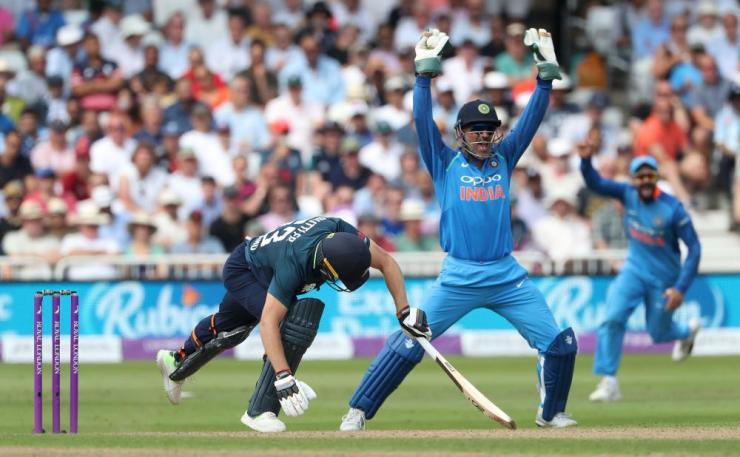 Buttler, caught behind by Dhoni.