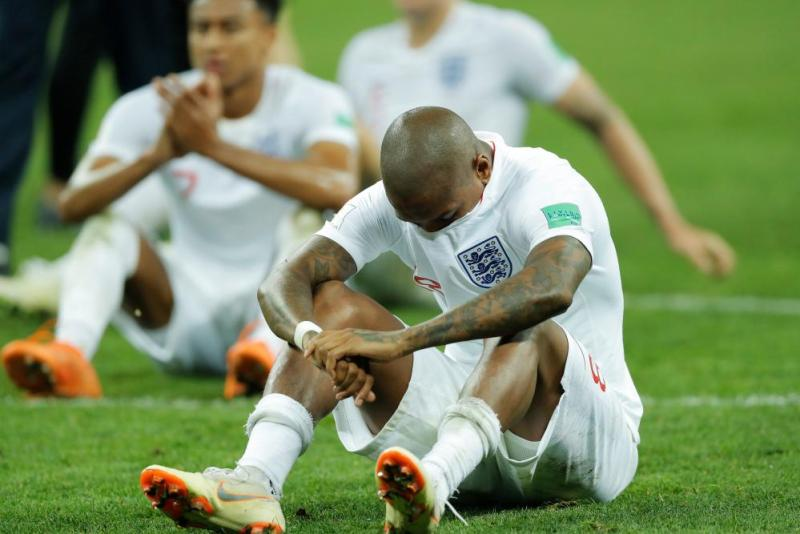 Ashley Young looks absolutely dejected