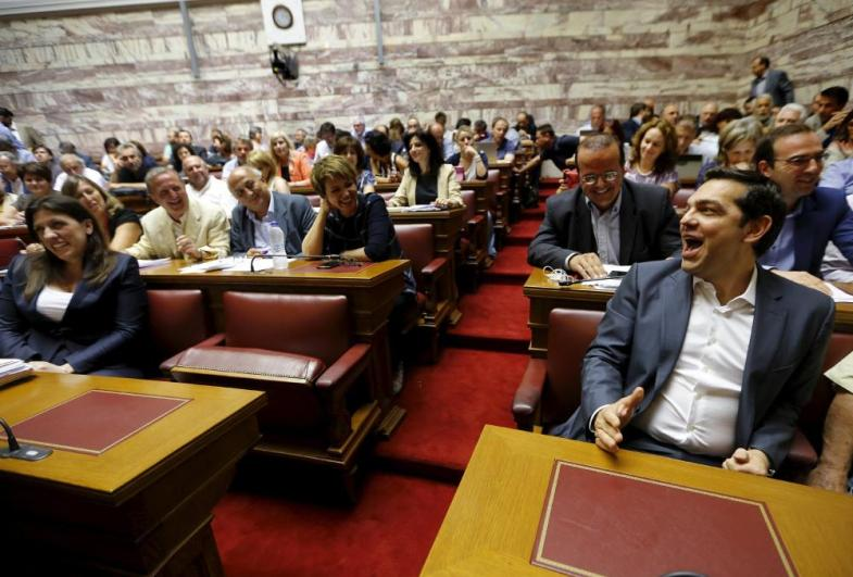 Konstantopoulou and Tsipras in happier times earlier this year.