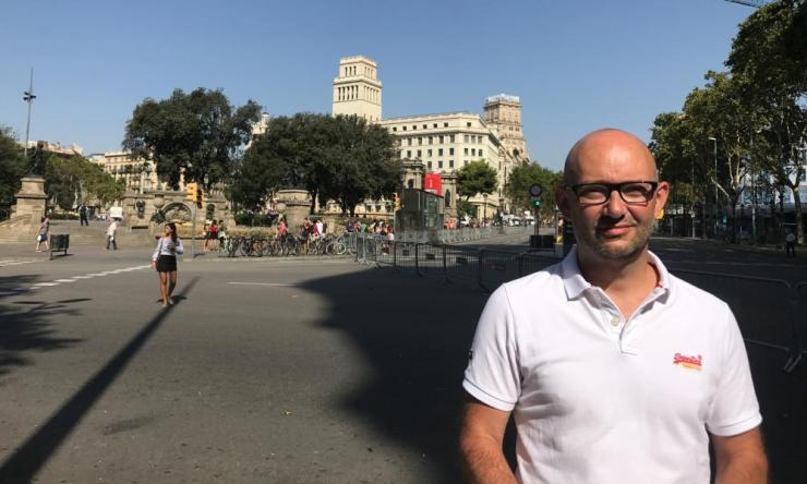 Richard Gregg at Plaça de Catalunya