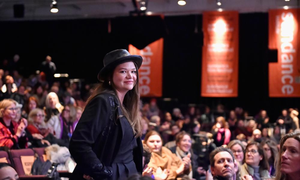 Brittany Kaiser, former director of Cambridge Analytica, at a screening of The Great Hack at Sundance in January.