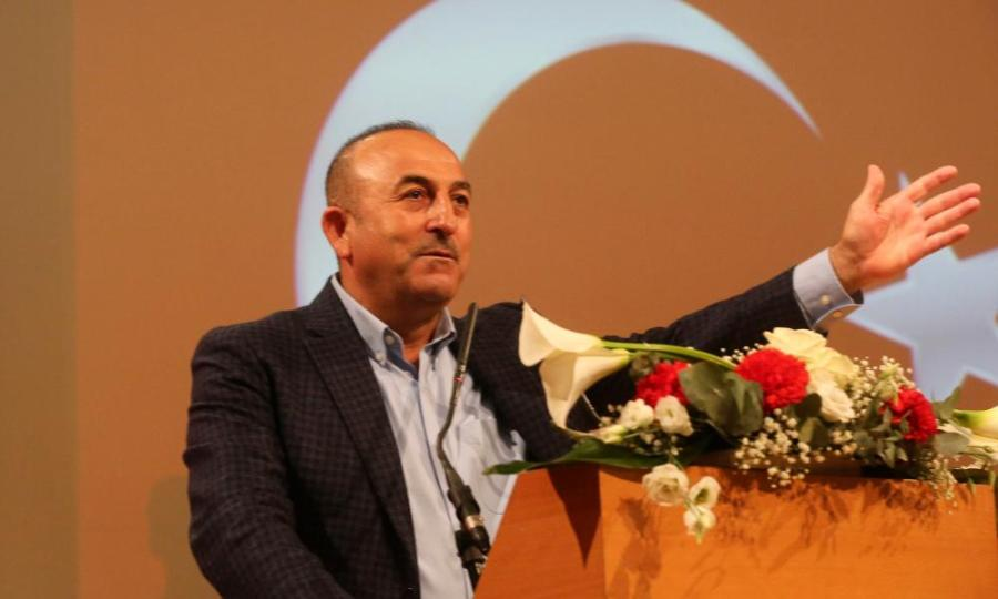Mevlüt Çavuşoğlu, Turkey's foreign minister, speaking in Metz, France on Sunday night.