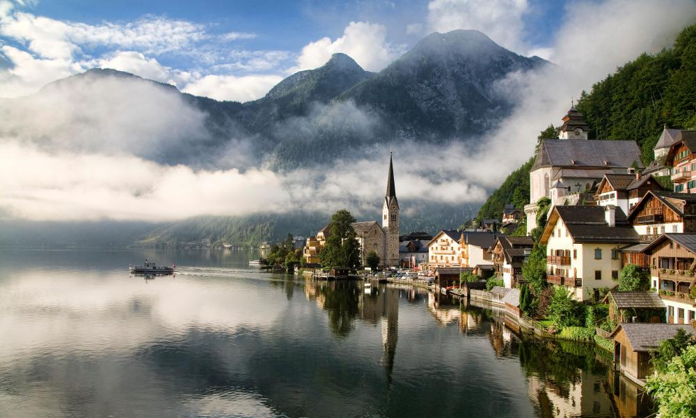 Morning sun on Hallstatt Austria