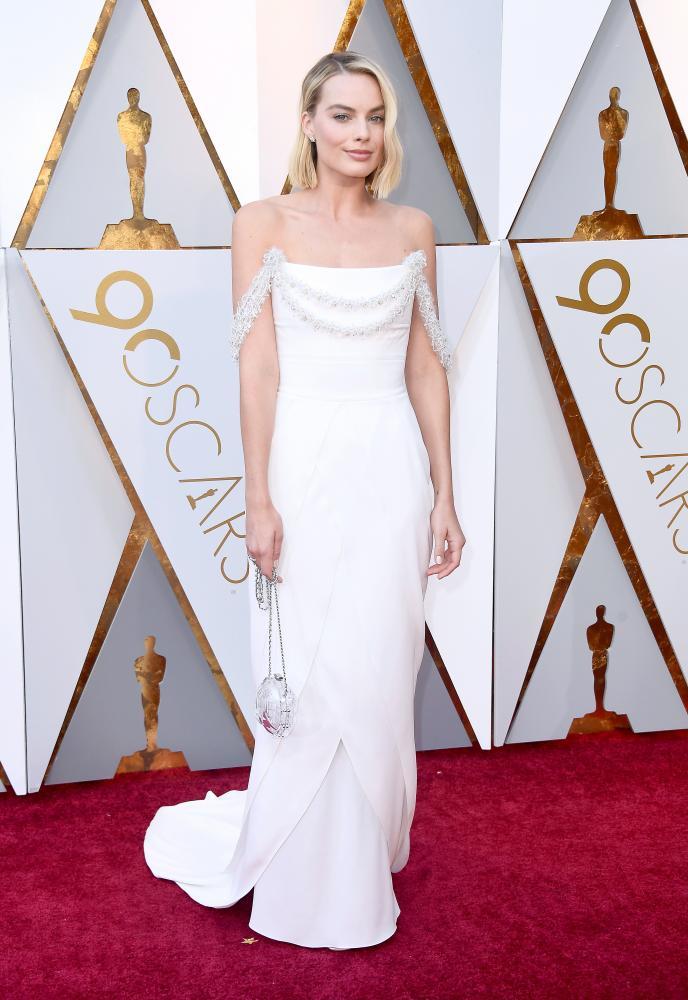 Margot Robbie wore white