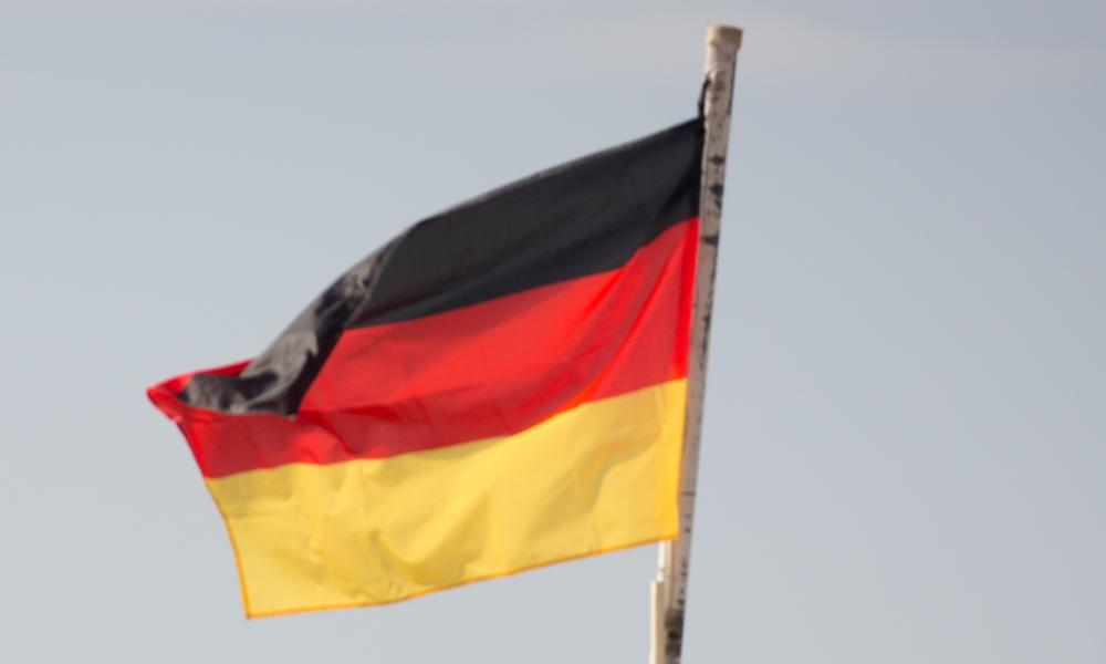 German Defence Minister von der Leyen in Afghanistan07 Dec 2015, Mazar-e Sharif, Afghanistan --- The German and Afghan flags flap in the wind at Camp Shaheen, a field camp for the Afghan Army, near Mazar-i-Sharif, Afghanistan, 07 December 2015. The German Defence Minister is on a 2-day visit to Afghanistan. Photo: KAY NIETFELD/dpa --- Image by © Kay Nietfeld/dpa/Corbis