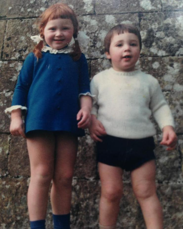 Clare and Greg as children at Wallington Hall, Northumberland, circa 1969.