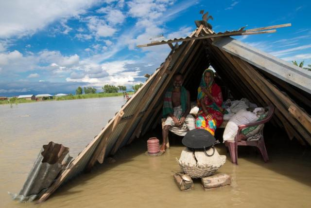 A flood-affected area of Bangladesh's Lalmonirhat district