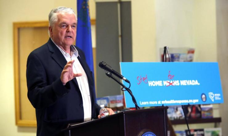Nevada governor Steve Sisolak has ordered a monthlong closure of casinos and other non-essential businesses in order to stem the spread of the new coronavirus.