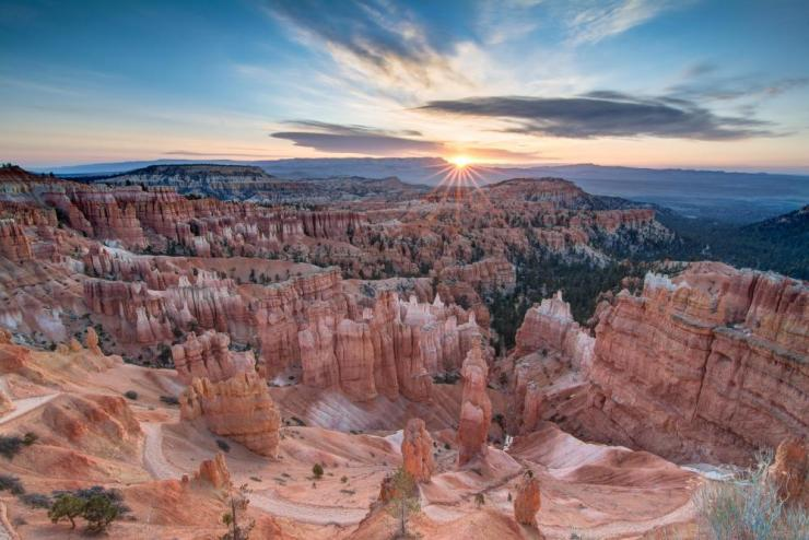 Sunrise over Bryce Canyon.