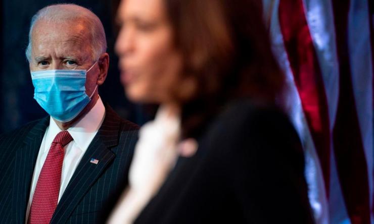 Joe Biden and Kamala Harris in Delaware this week.