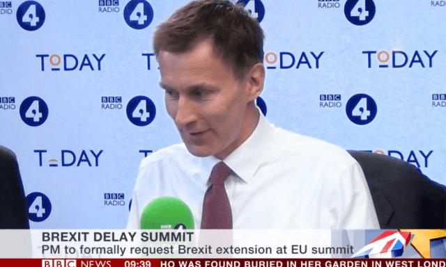 Jeremy Hunt on the Today programme