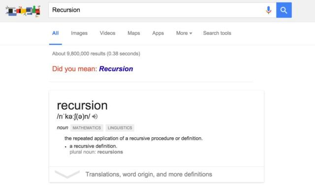 Recursive search