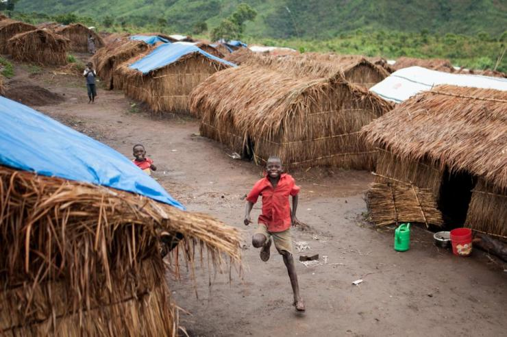 Displaced children in Mwaka village, Tanganyika province