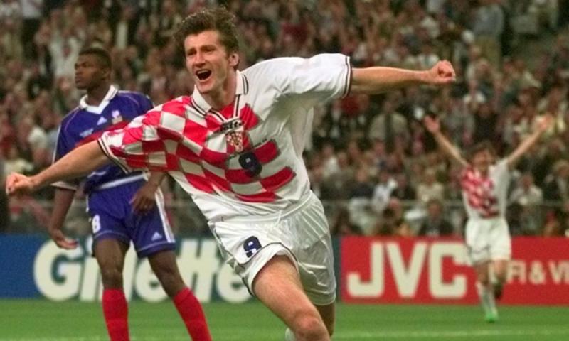 Suker momentarily stuns France in 1998.