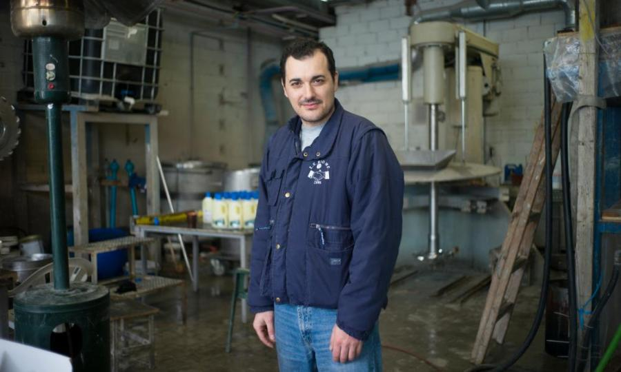 Marius Kostopoulos, one of the Viome workers.