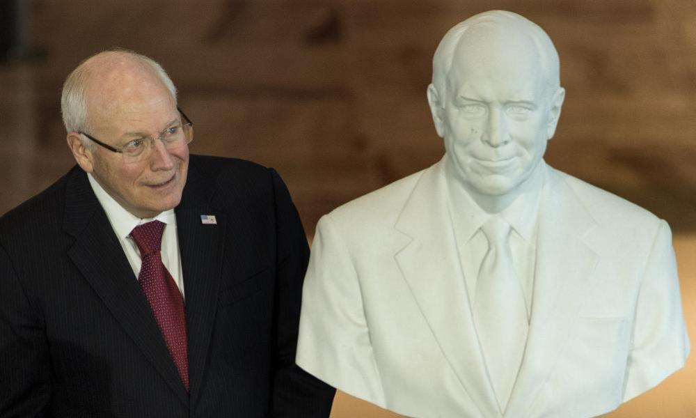Cheney at a dedication ceremony at the US Capitol Visitor Center in December.
