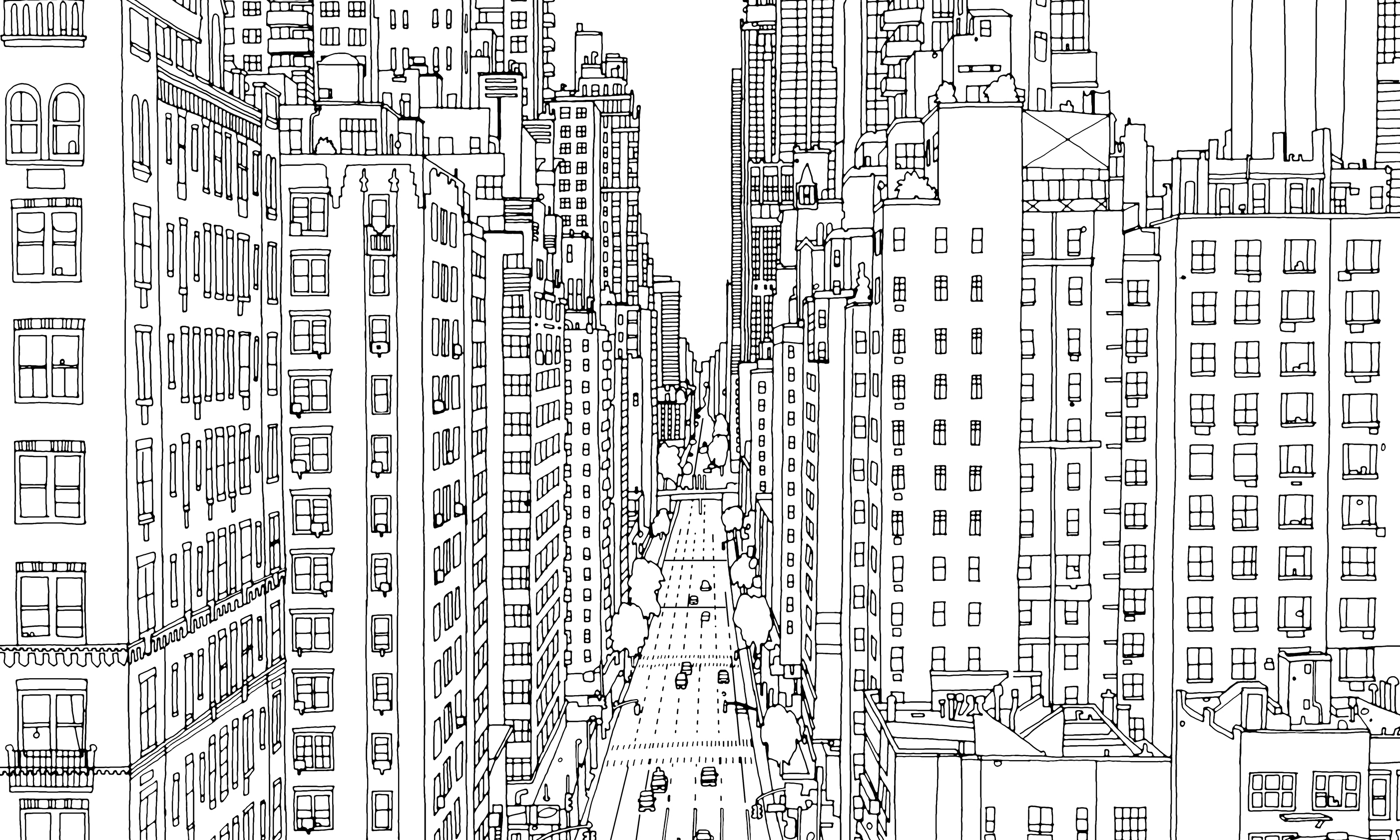 Manhattan Time To Color Pinterest Manhattan Cities