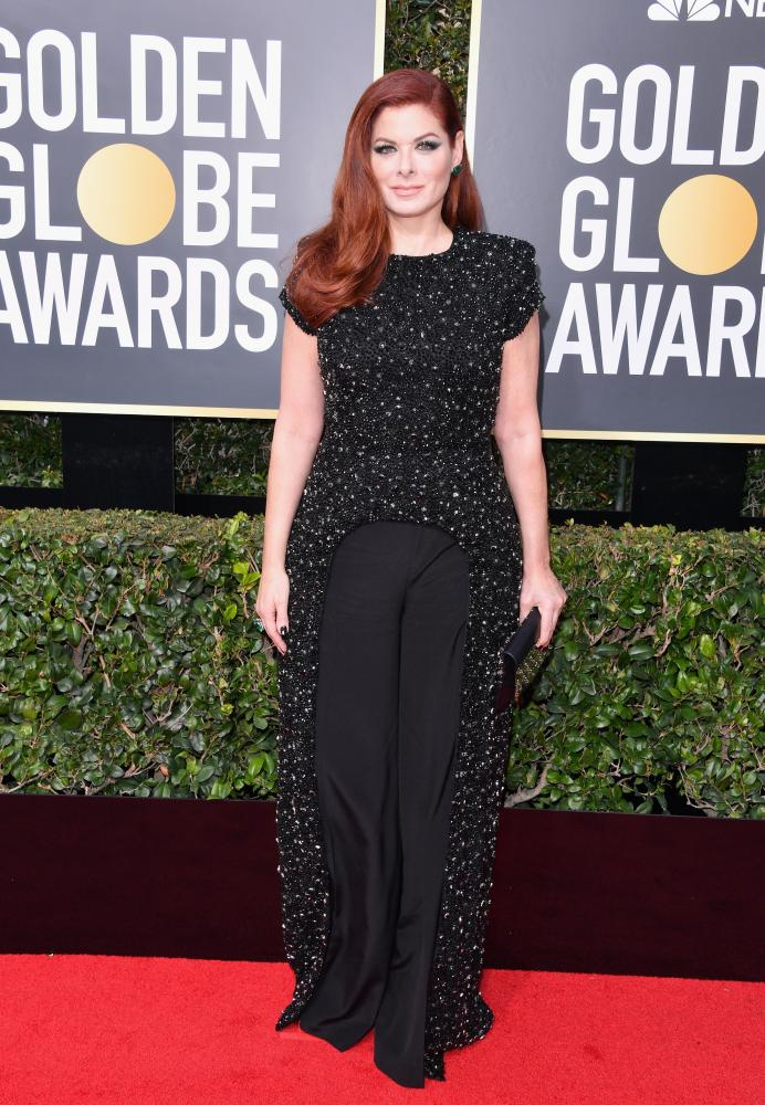 Debra Messing attends The 75th Annual Golden Globe Awards