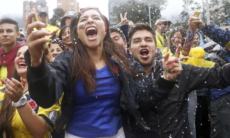 Colombia fans in Bogota