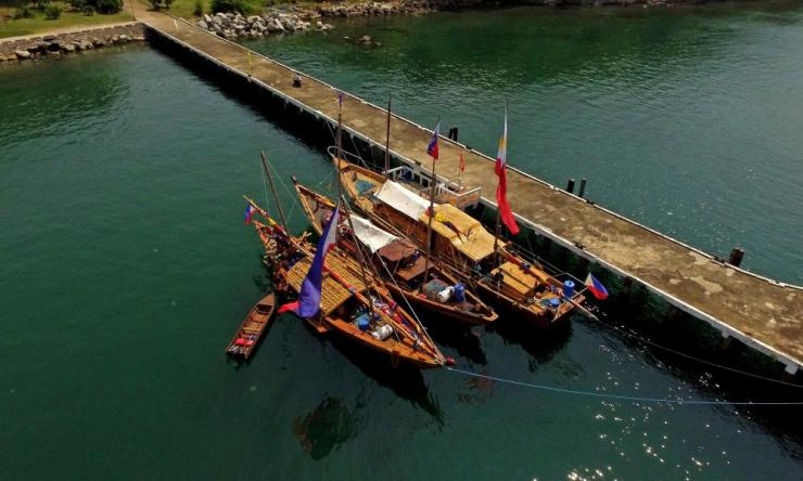The team's balangay boats
