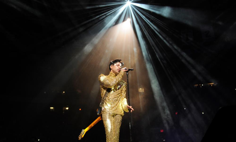 """Prince performs during his """"Welcome 2 America"""" tour at Madison Square Garden, New York City in 2011."""