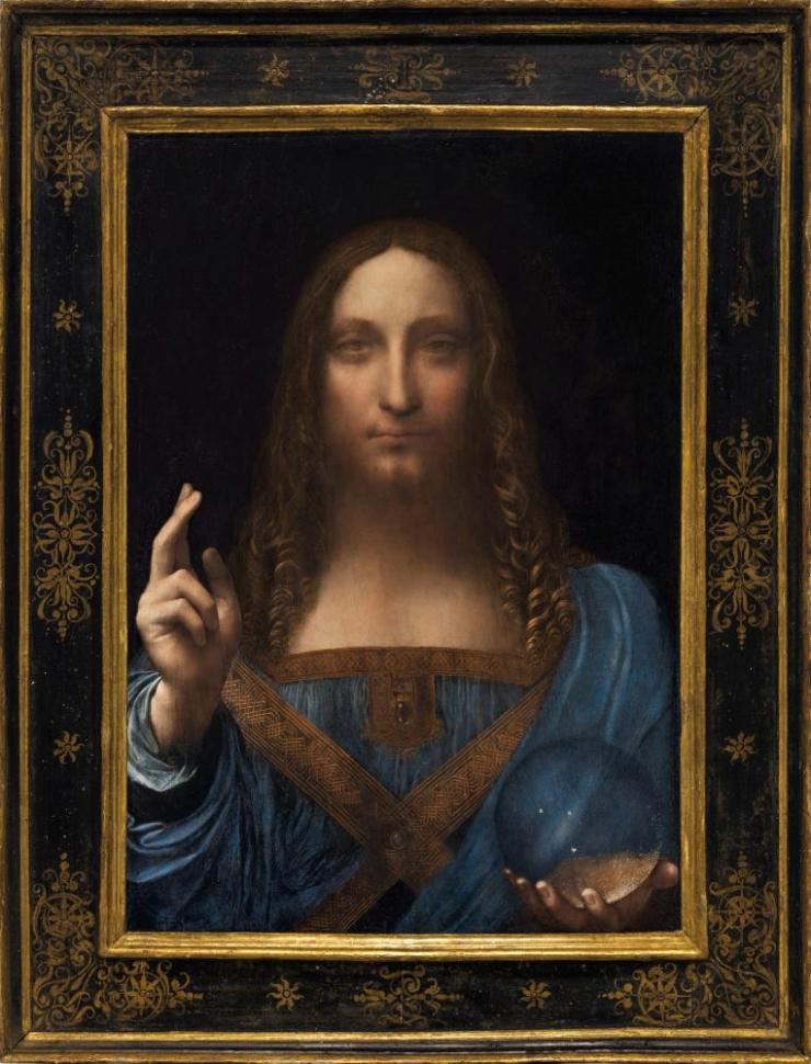 Excessive restoration? … how the work looked at auction, when it became the world's most expensive painting.