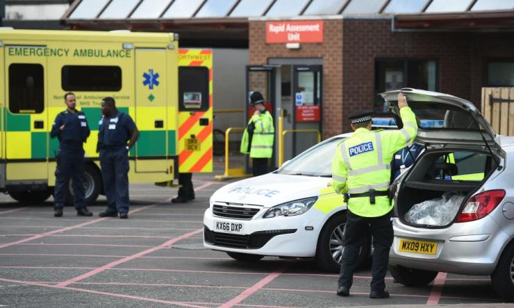 The scene at Manchester Royal Infirmary as the death toll from the Manchester bomb attack rose to 22 with 59 injured