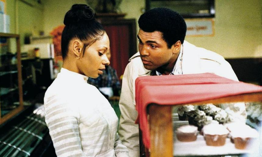 Muhammad Ali in a scene from the 1977 film, 'The Greatest'.