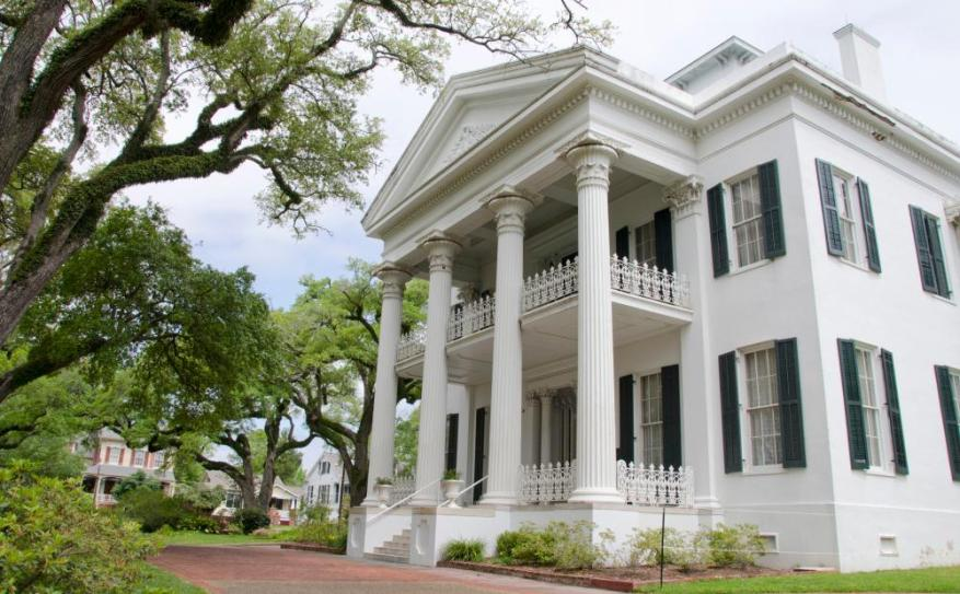 Stanton Hall is an antebellum classical revival mansion in Natchez built during 1851-1857 for Frederick Stanton, a cotton broker.