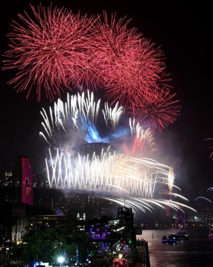 New Year celebrations in Sydney.