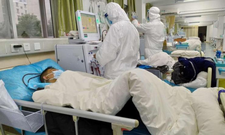 The Central Hospital of Wuhan, in the province of Hubei, has been treating coronavirus patients.