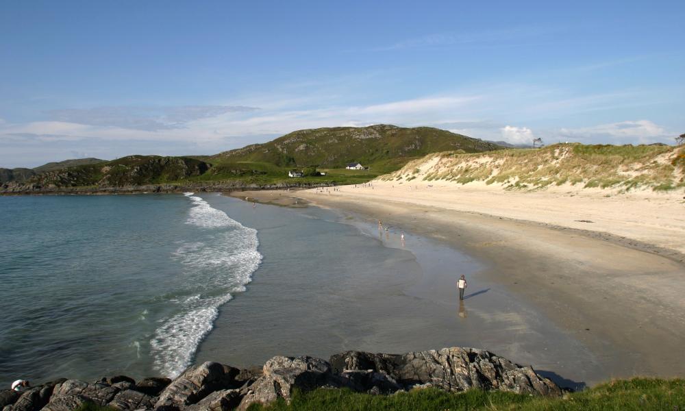 Camusdarach beach near Arisaig Scotland