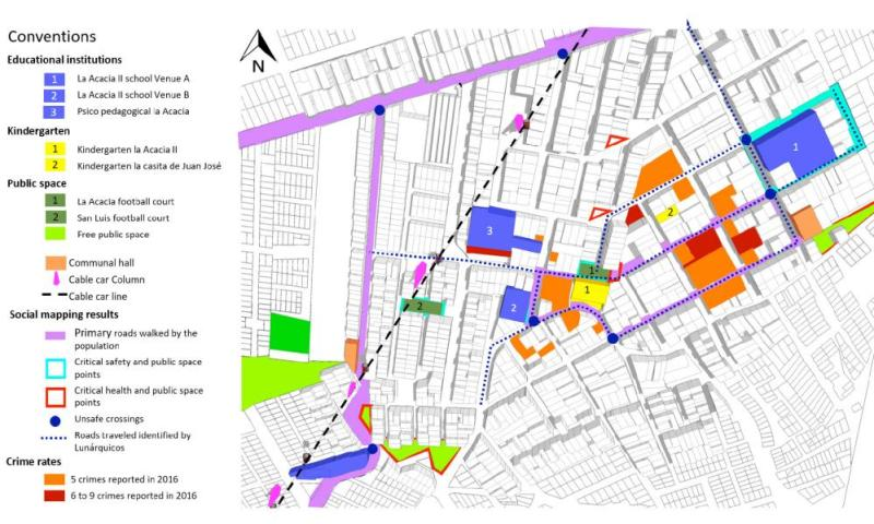 In Ciudad Bolívar, community members worked with Urban 95 to map danger spots and suggest improvments