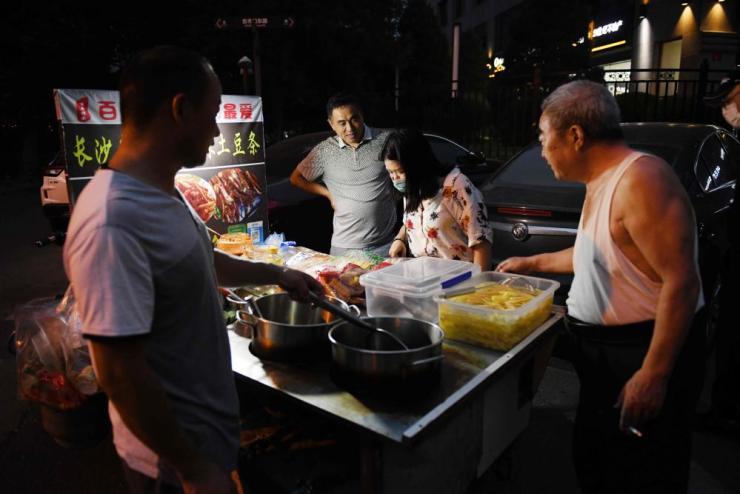 A Beijing street food stall.