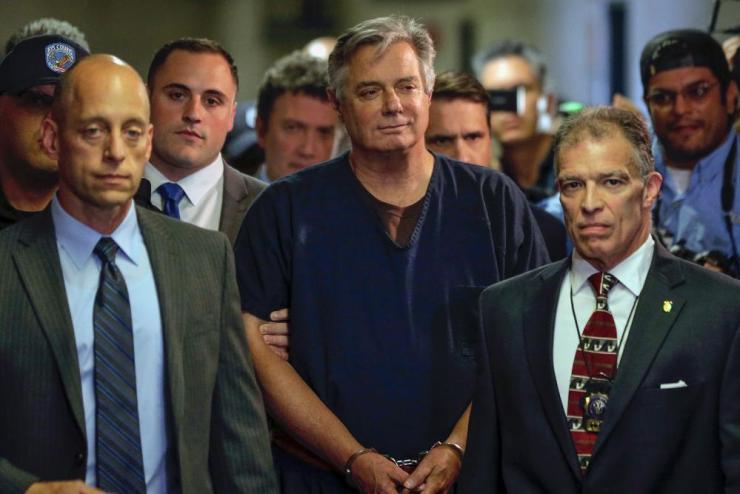 Paul Manafort arrives in court in New York.