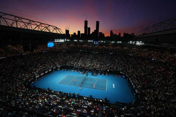 A general view inside Rod Laver Arena.
