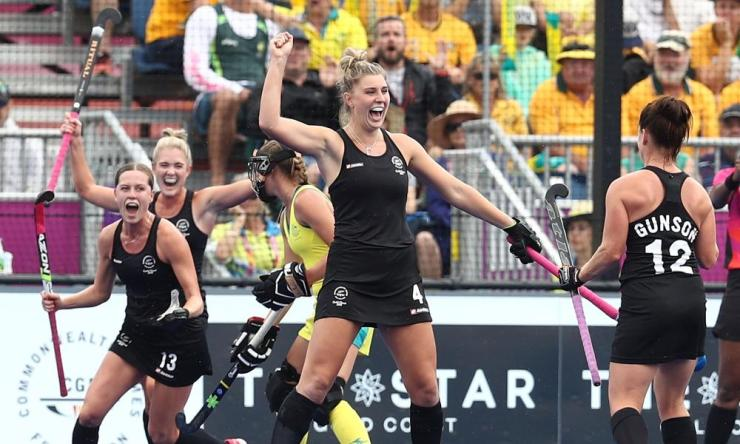 Olivia Merry celebrates with teammates