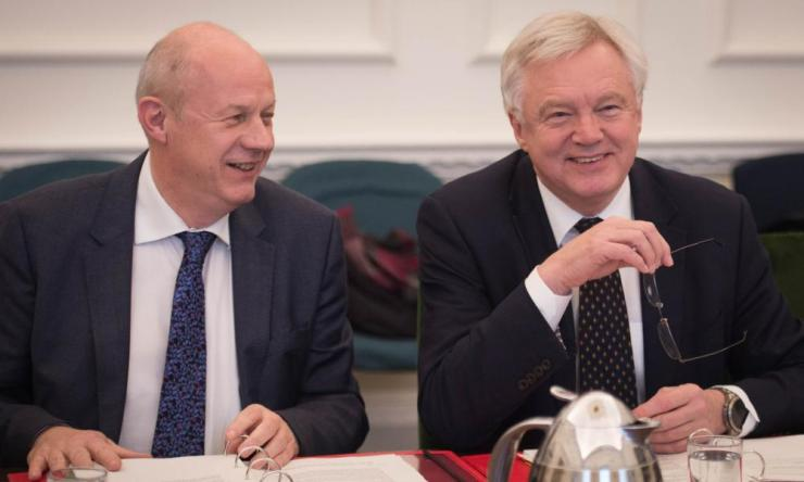 David Davis (right) and Damian Green