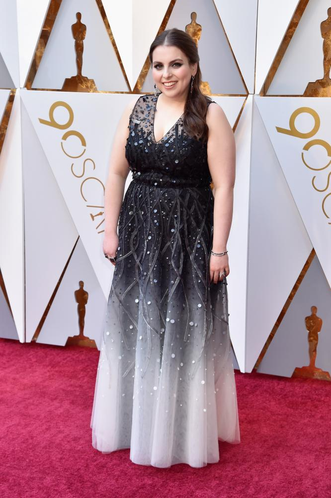 Beanie Feldstein wore the Times Up pin
