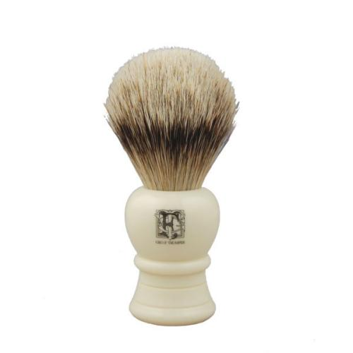 A badger hair shaving brush