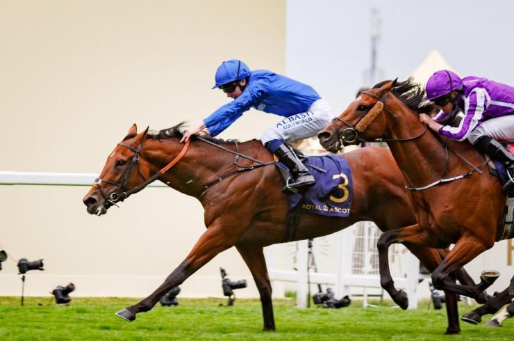 Benbatl and Oisin Murphy win the Hampton Court Stakes.