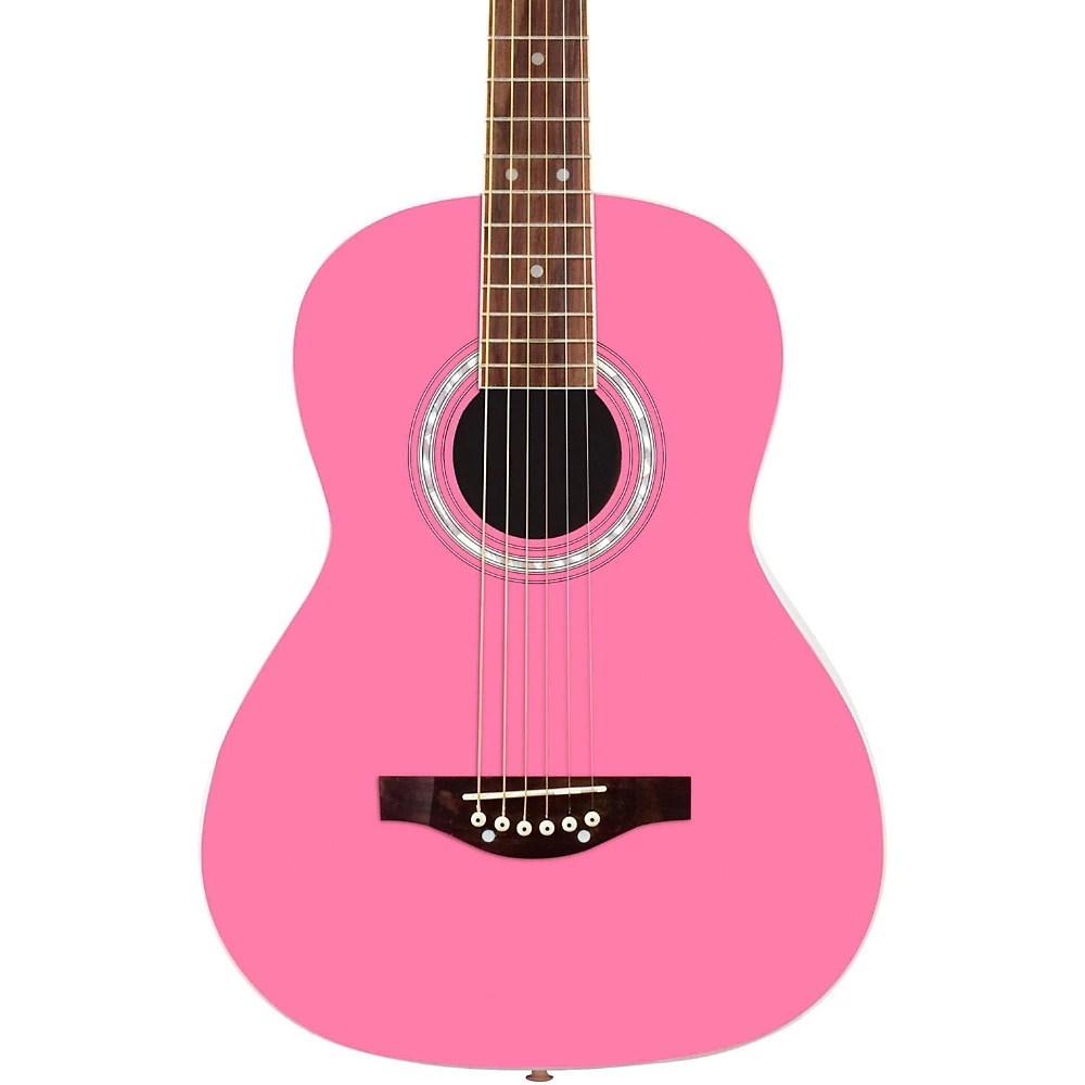 Daisy Rock Debutante Junior Miss Short Scale Acoustic Guitar Bubble Gum