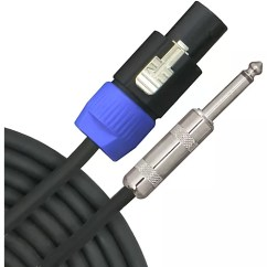 Speakon To Mono Jack Wiring Diagram Usb Parallel Printer Cable 1 4 Free For You Livewire Elite 12g In 2 Pole Speaker Guitar Rh Guitarcenter Com Connector