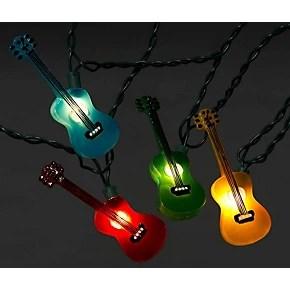 Kurt S Adler Guitar MultiColor Light Set 10 Lights