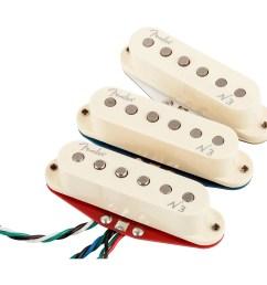 upc 885978149933 product image for fender n3 noiseless stratocaster pickups set of 3 white covers  [ 1000 x 1000 Pixel ]