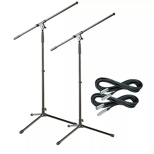 Musician's Gear Tripod Mic Stand with 20 Foot Mic Cable (2