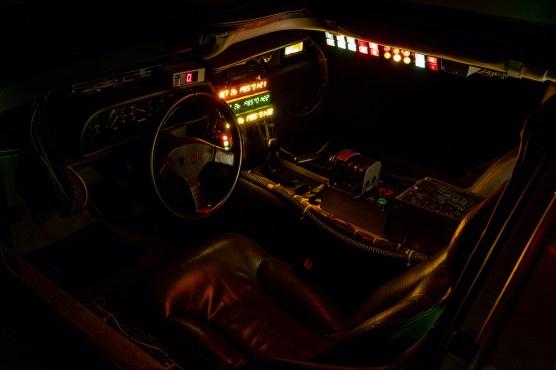 Back to Future DeLorean interior night