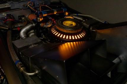 Back to Future DeLorean engine night
