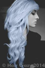 with silvery blue