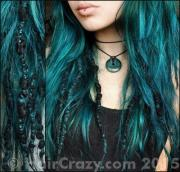 dark teal hair